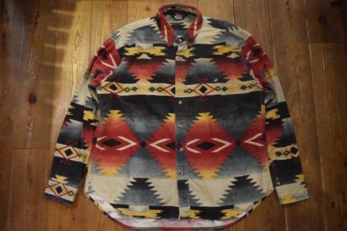 USED USA製 ウールリッチ ネイティブ柄 コットンシャツ  80s L位