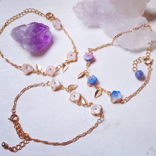 czech flower beads bracelet