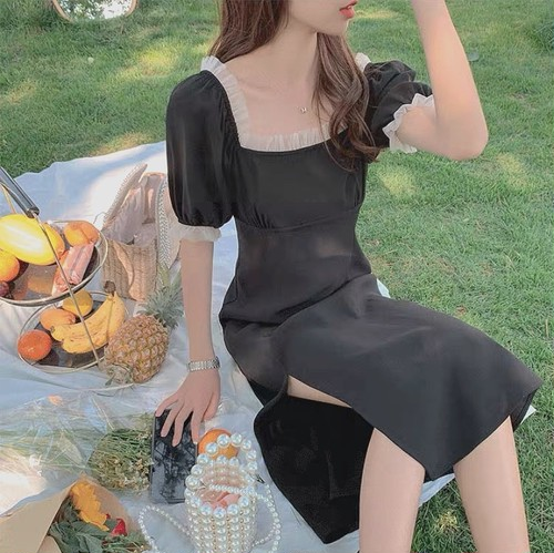 french frill dress 2type