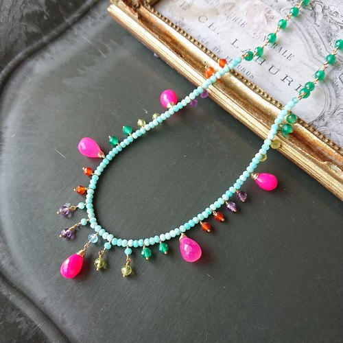 candy color necklace N004