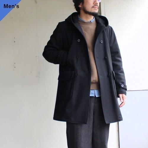 weac. メルトンウールコート BOY COAT ブラック