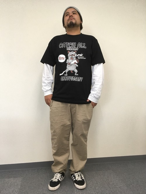 【※残りわずか】CATCH ALL RECORDS 15th ANNIVERSARY T-SHIRT
