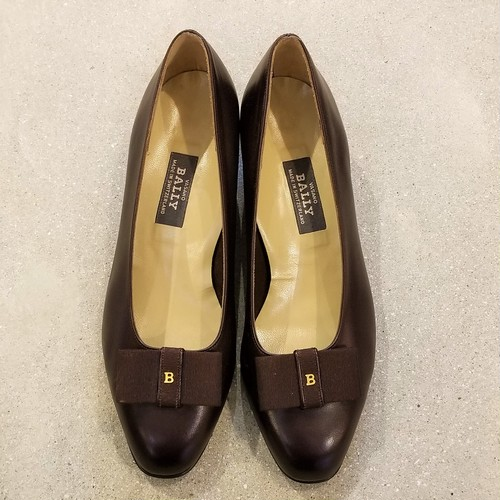 BALLY leather pumps / Made in Switzerland[s-206]