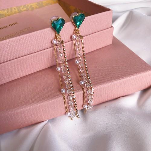 【予約】Heart bijou&pearl pierce