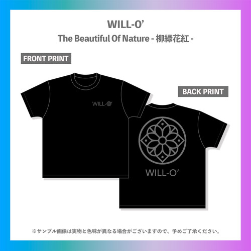 WILL-O'/柳緑花紅ツアーTシャツ(グレープリント)