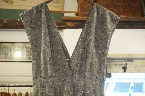 80's paisley jacquard pencil jumper Dress