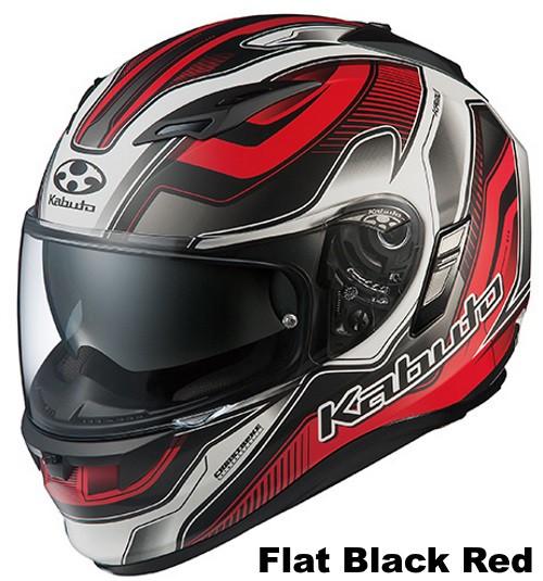 OGK KAMUI 2 HAMMER Flat black red