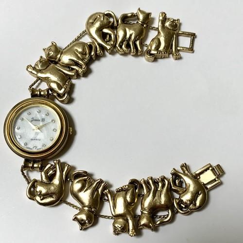 Vintage Cats Slide Braclet Quartz Watch