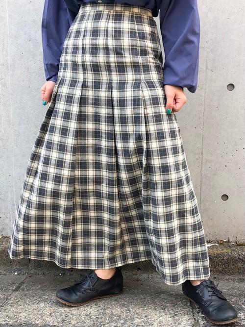(PAL) plaid pleats shirt