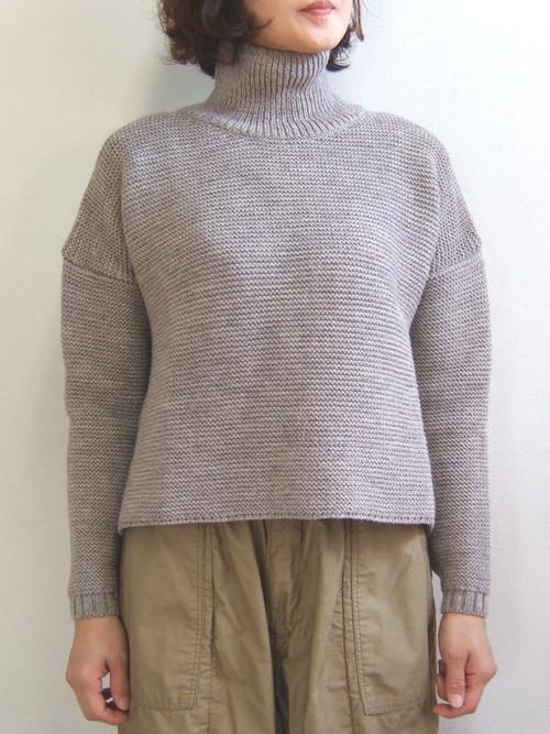 Kerry Woollen Mills ケリーウーレンミルズ Pearl Stitch Polo Neck LITE パール ステッチ ポロ ネック ライト Oatmeal sweater セーター Ladies レディース イギリス製 MadeinEngland KW018-015