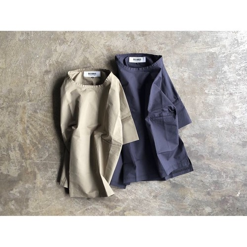 BASISBROEK (バージスブルック)『REMI』Cotton Silk Crew Neck Pullover Shirt