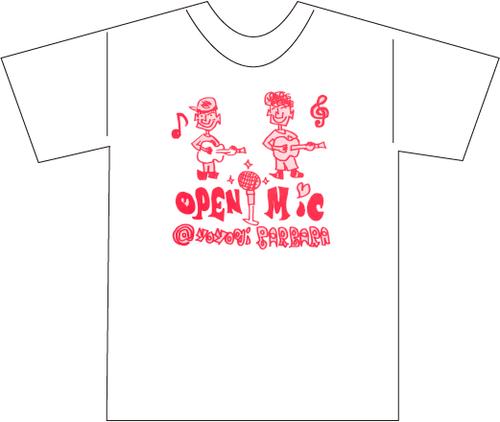 代々木Barbara受注作品Tシャツ(橋本勇介&イマイユウOPEN MIC)
