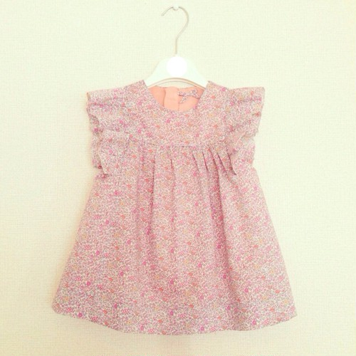 KIDS SEMI ORDER MADE DRESS -floral dress-