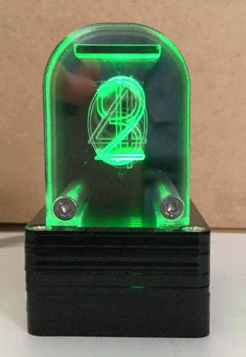 1桁アクリル時計用LED表示BOX(緑)- CLOCKAKLED01