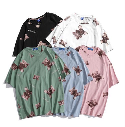 目隠しクマさん Tシャツ 5色