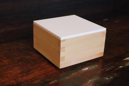桝 『HAKOMASU-ハコマス-』 カトラリー&白蓋セット ミニ 国産 檜 小物入れ