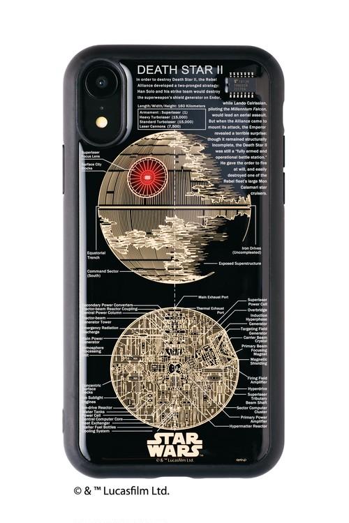 FLASH DEATH STAR 基板アート iPhone XRケース 黒【東京回路線図A5クリアファイルをプレゼント】