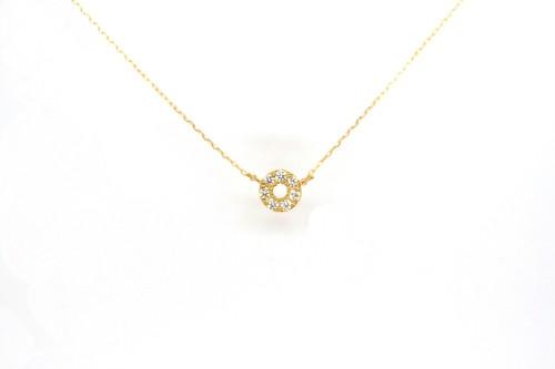 10KYG アミュレット angel HALO ダイヤモンドネックレス