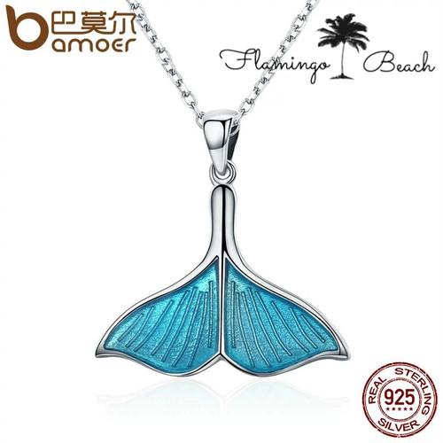 【FlamingoBeach】925 whale necklace