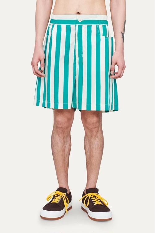 『SUNNEI』striped shorts / OFF WHITE × MINT