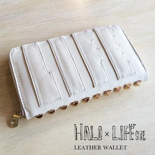 【HALO × LIFEsize】LEATHER WALLET2015 /offwhite