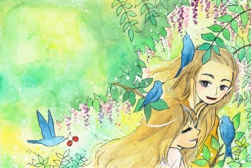 ポストカード「5月の森」