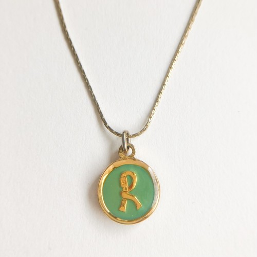 """""""Roberta"""" green necklace[n-263] ヴィンテージネックレス"""