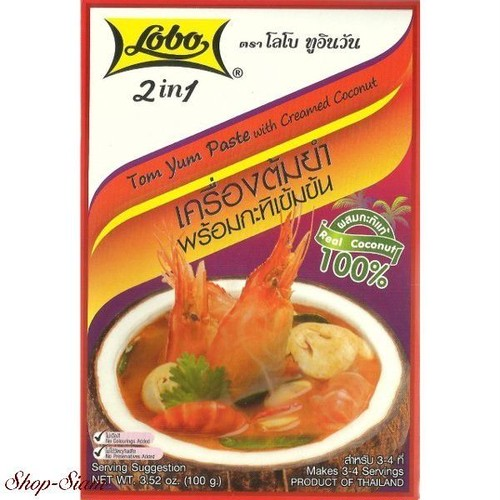 2in1 トムヤムペースト&ココナッツミルク / Lobo Tom Yum Paste with Creamed Coconut