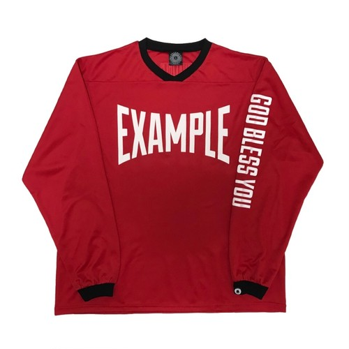 FOOTBALL L/S TEE /RED