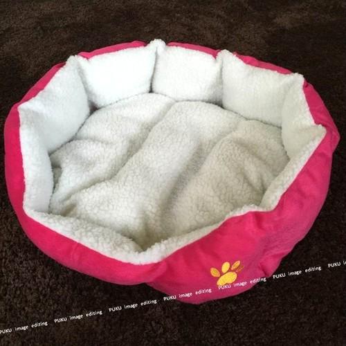 犬猫用 ベッド ピンク 【Lサイズ】