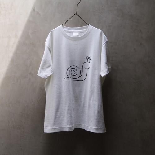 YAECA / ヤエカ プリントTシャツ Snail White