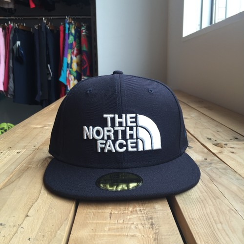 USストア限定 The North Face x New Era Half Dome Logo Wool Cap Navy