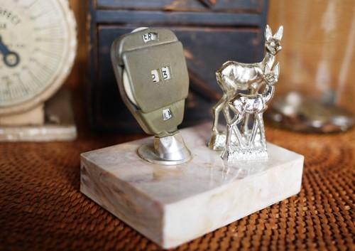フランス  鹿のペアー カレンダー 日めくり スーベニールお土産