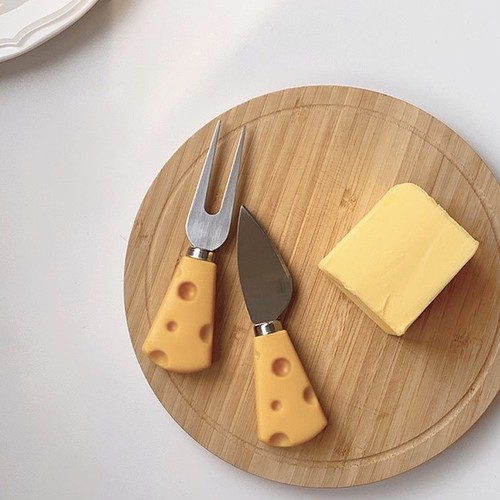 cheese cutlery 2P set / 韓国 レトロ チーズ フォーク ナイフ