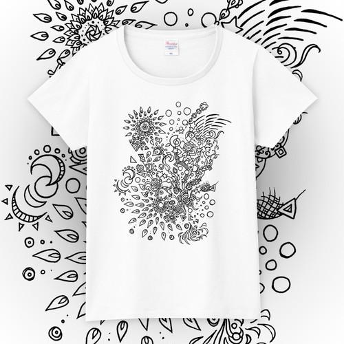 【送料無料】メンズ・レディースサイズ有★HANABI-Tシャツ