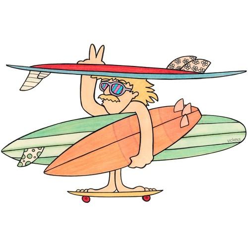 ステッカー skateboard man  再入荷!