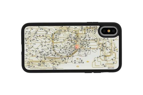 FLASH 東京回路線図 iPhoneX/XSケース 白【東京回路線図A5クリアファイルをプレゼント】
