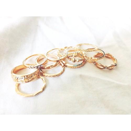 【送料無料◇即納】Ring♡ゴールド12セットリング