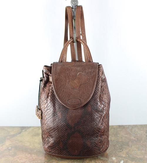 .IBIZA PYSON LEATHER RUCK SUCK/イビザパイソンレザーリュックサック 2000000045184