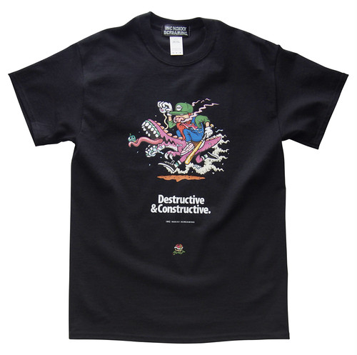 DESTRUCTIVE T-shirt / 2P GREEN