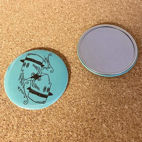 缶ミラー ロゴマーク グリーン