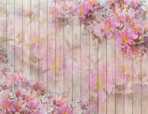 お花とwoodのニューボーンフォト背景布120cmX120cm
