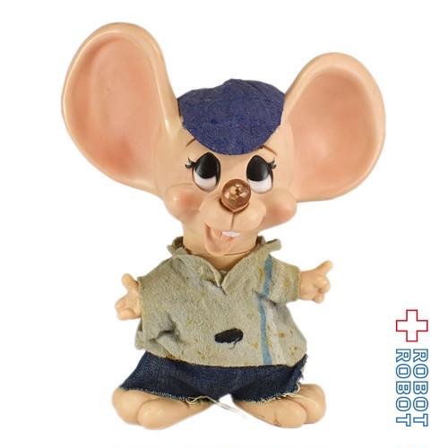 フロリダマウス 青帽子 ソフビ貯金箱
