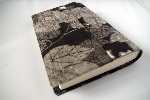 文庫本セパレート式ブックカバー(絹・越後紬)hb069
