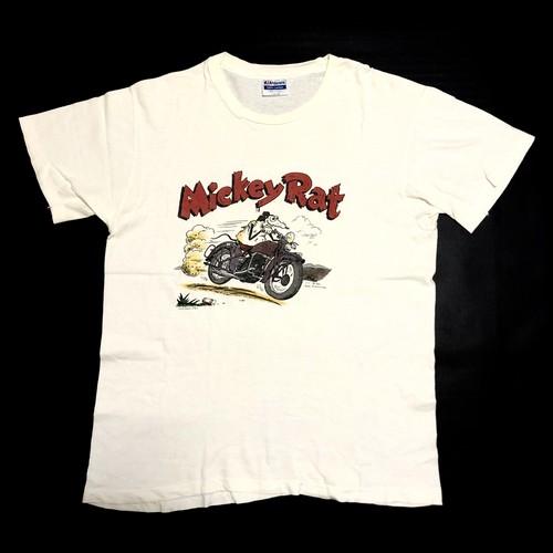 80's Hanes Robt Armstrong 1986 Mickey Rat Harley-Davidson Print T-Shirts(L) ミッキーラット