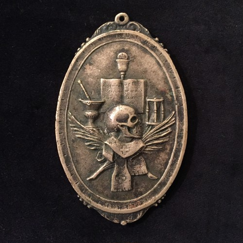 Antique Memento Mori Votive italian Medal