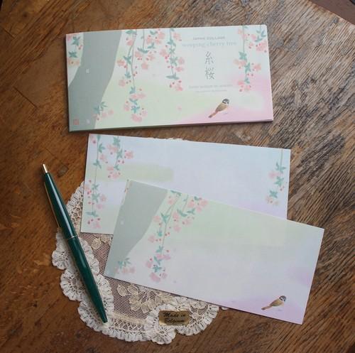 糸桜 一筆箋