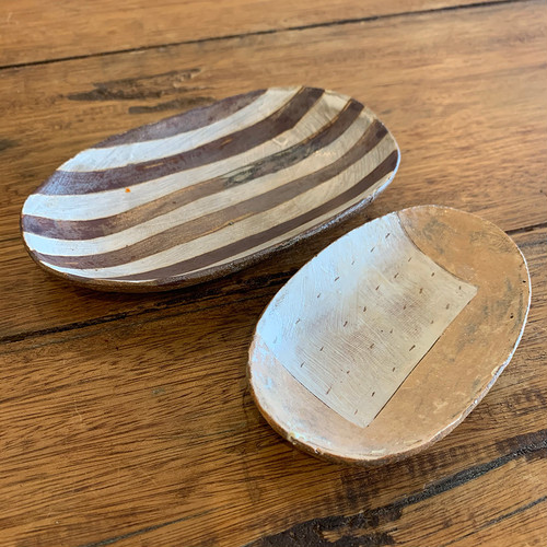 吉澤浩さんの楕円小皿2枚セット