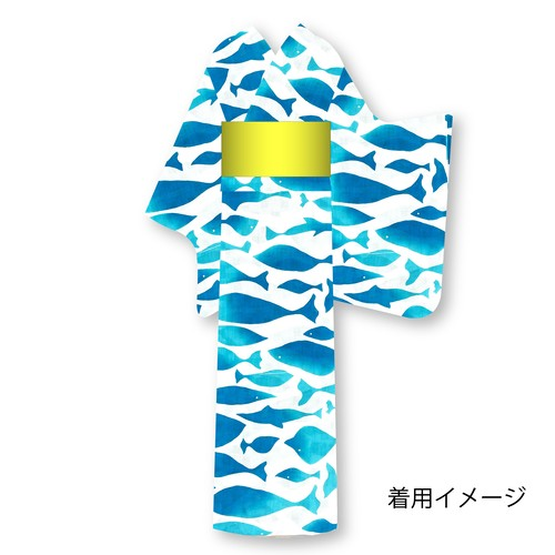 仕立上り浴衣⑫魚柄