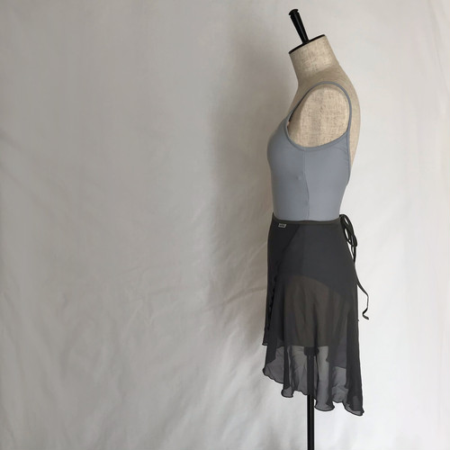 "◇""Tatiana"" Ballet Wrap Skirt - ""Sumi"" Gray [Sheer]( スミ・グレー [シアー])"